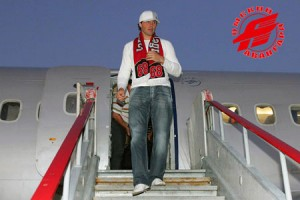 Jagr arrives in Omsk...